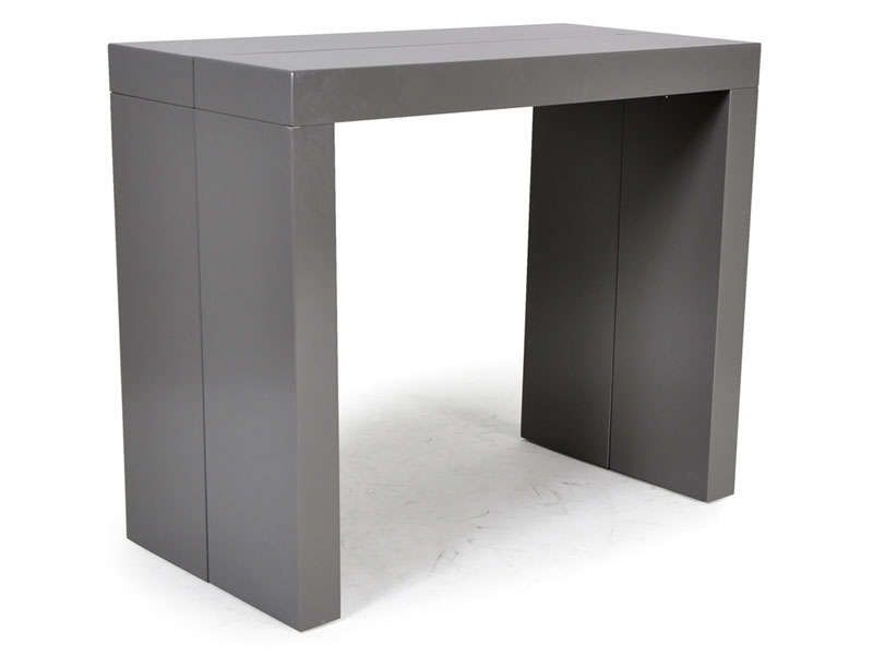 Console extensible olga coloris gris brillant conforama pickture - Table console extensible grise ...