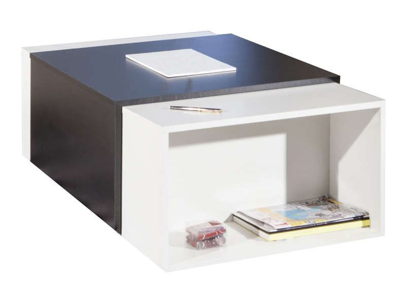 Table Basse Ios Coloris Noir Blanc Conforama Pickture