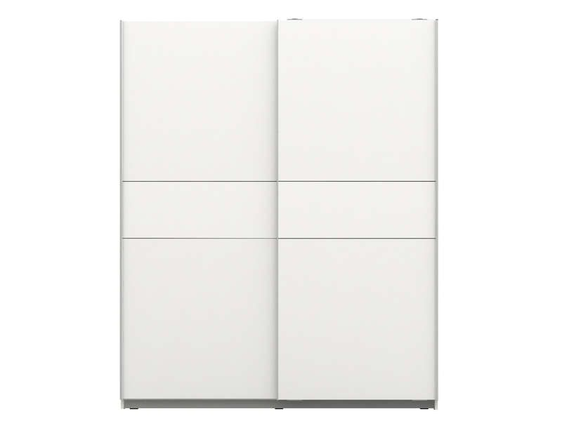 Armoire winner coloris blanc conforama pickture for Armoire 4 portes coulissantes conforama