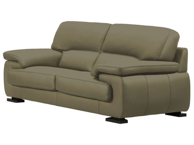 canap fixe 2 places balsamo coloris taupe conforama. Black Bedroom Furniture Sets. Home Design Ideas
