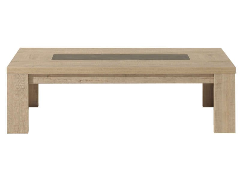 Table basse brest nature coloris ch ne clair conforama for Table basse modulable conforama