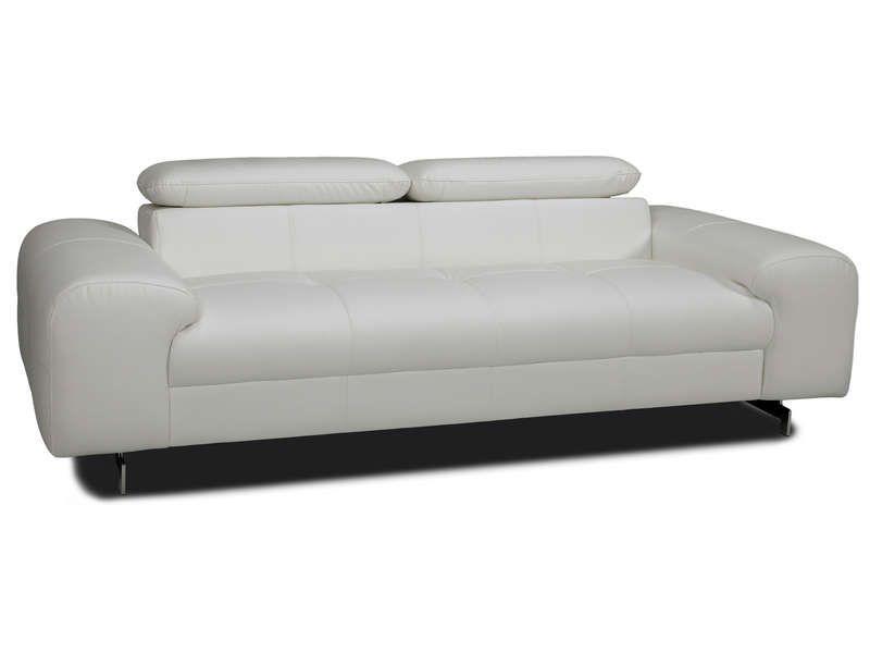 canap fixe 3 places irina coloris blanc conforama pickture. Black Bedroom Furniture Sets. Home Design Ideas
