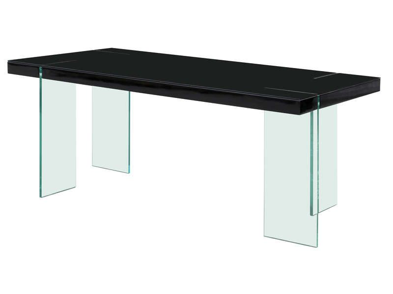 Table manger rectangulaire marbella coloris conforama for Table manger conforama