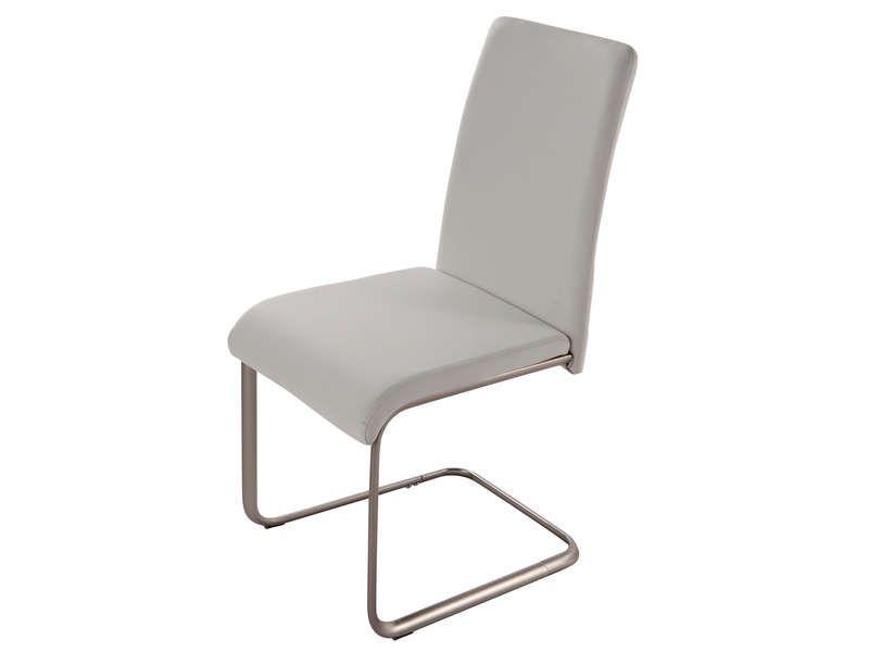 Chaise gert coloris blanc conforama pickture - Chaise cuir blanc conforama ...