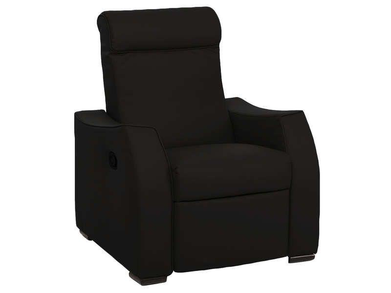 Fauteuil relax alix coloris noir conforama pickture - Conforama fauteuil relax manuel ...