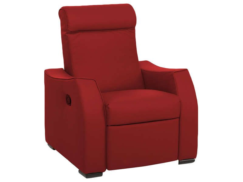 fauteuil relax alix coloris rouge conforama pickture. Black Bedroom Furniture Sets. Home Design Ideas