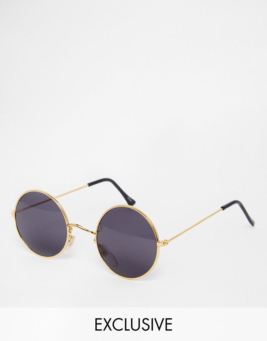 asos vintage lunettes de soleil rondes reclaimed. Black Bedroom Furniture Sets. Home Design Ideas