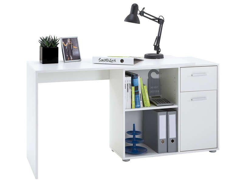 bureau blanc albrecht conforama pickture. Black Bedroom Furniture Sets. Home Design Ideas