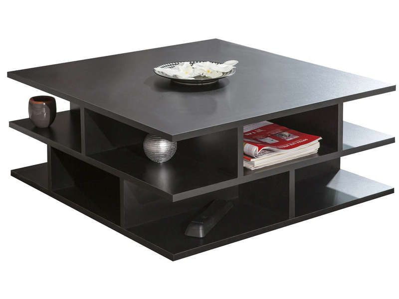 Table basse coloris noir conforama pickture - Table basse carree noire ...