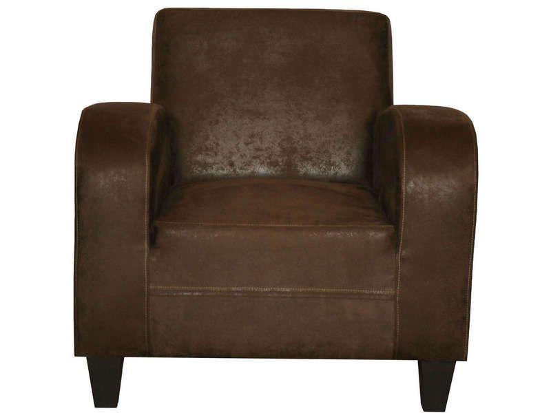 fauteuil tissu nany coloris marron conforama pickture. Black Bedroom Furniture Sets. Home Design Ideas