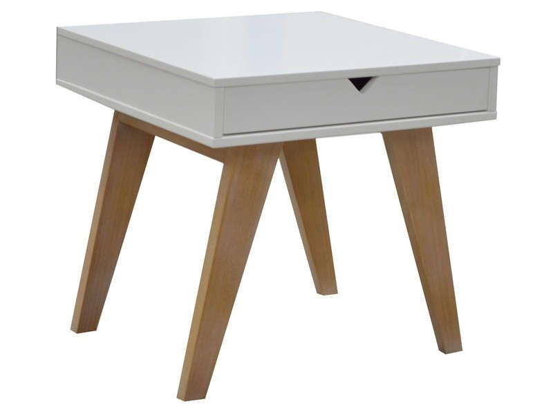 Table basse 1 tiroir gaudi coloris blanc ch ne conforama pickture - Tables basses conforama ...
