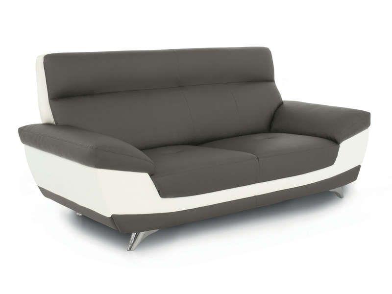 canap fixe 2 places diagonal coloris taupe et conforama pickture. Black Bedroom Furniture Sets. Home Design Ideas