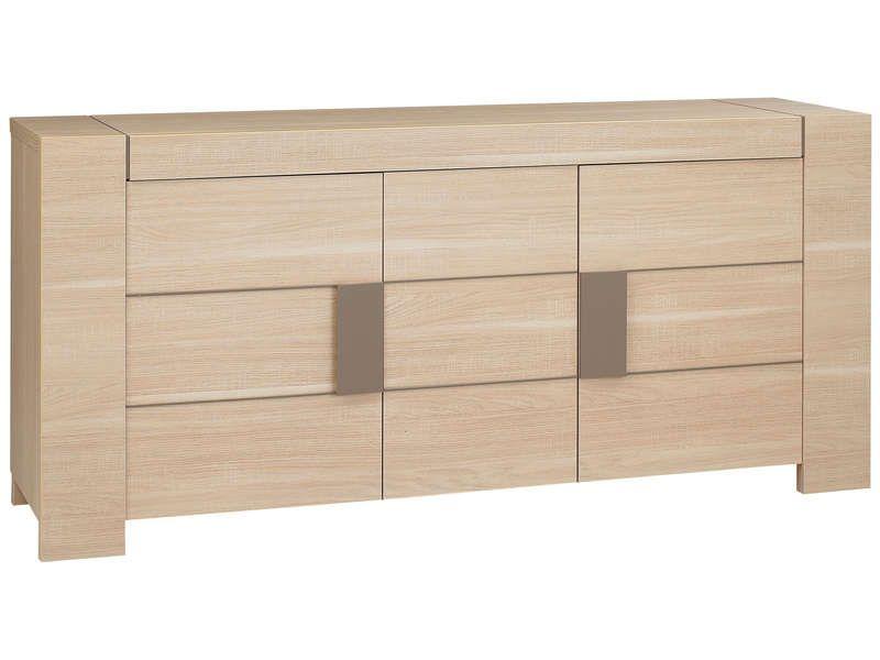 buffet 3 portes atlanta coloris ch ne clair conforama pickture. Black Bedroom Furniture Sets. Home Design Ideas