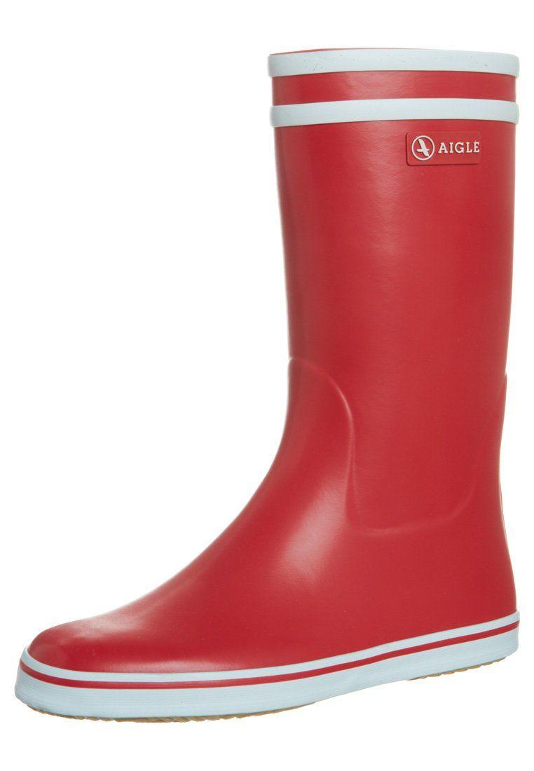 Aigle malouine bottes en caoutchouc rouge blanc aigle - Bottes caoutchouc aigle ...