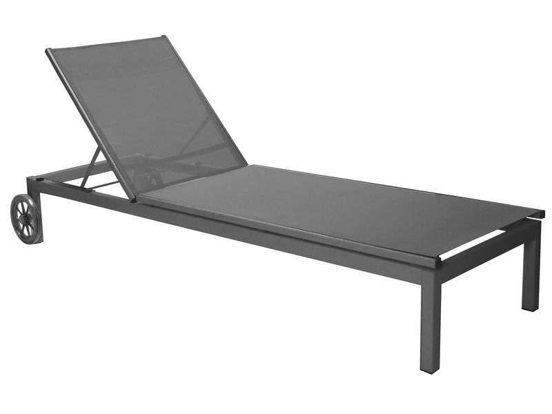 Chaise longue bain de soleil thema royal coloris - Conforama chaise de jardin ...