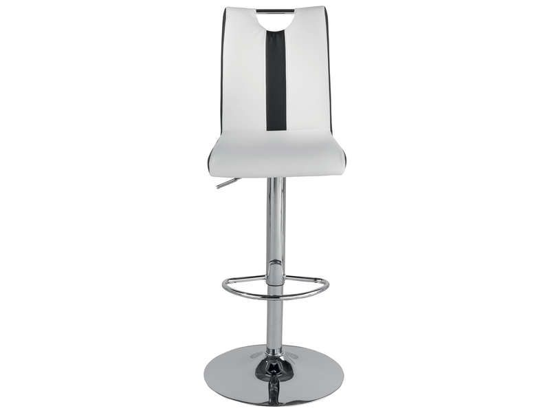 tabouret de bar v8 coloris blanc noir conforama pickture. Black Bedroom Furniture Sets. Home Design Ideas