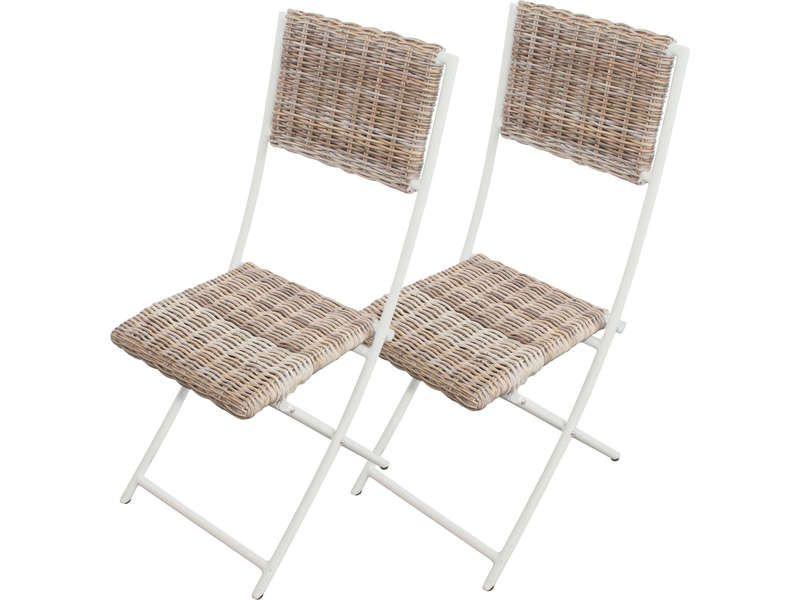 lot de 2 chaises pliantes de jardin borneo conforama pickture. Black Bedroom Furniture Sets. Home Design Ideas
