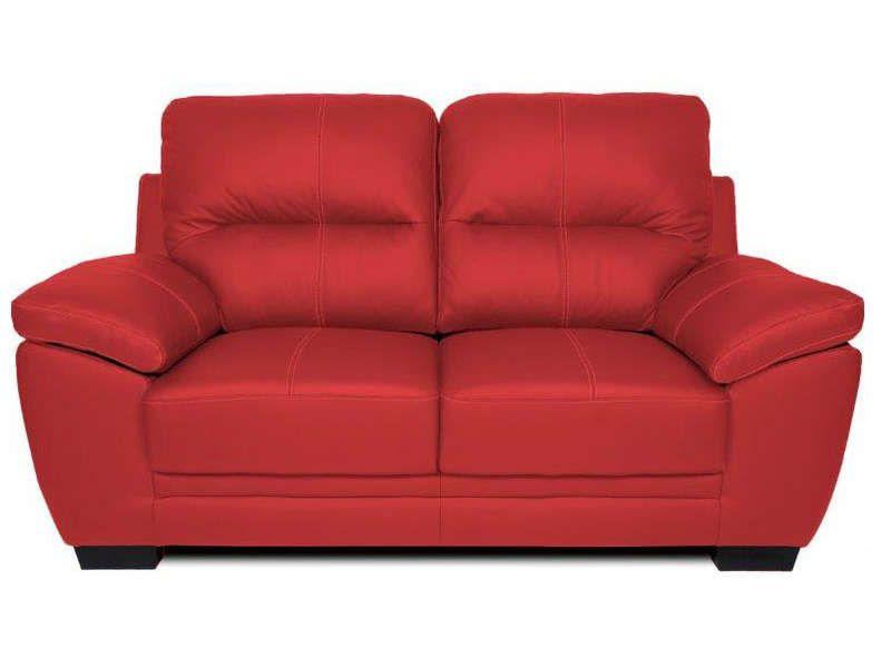 canap fixe 2 places en cuir victoria 2 coloris conforama pickture. Black Bedroom Furniture Sets. Home Design Ideas
