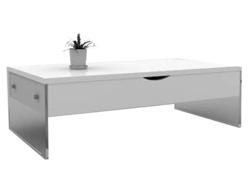 Table Basse Relevable Level Coloris Blanc Conforama