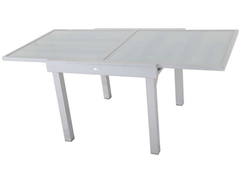 Table de jardin 90 cm avec allonge tenerife conforama for Table en verre avec rallonge