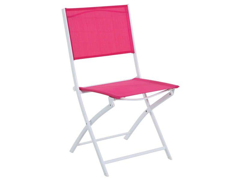 chaise pliante de jardin tabarca coloris framboise conforama pickture. Black Bedroom Furniture Sets. Home Design Ideas