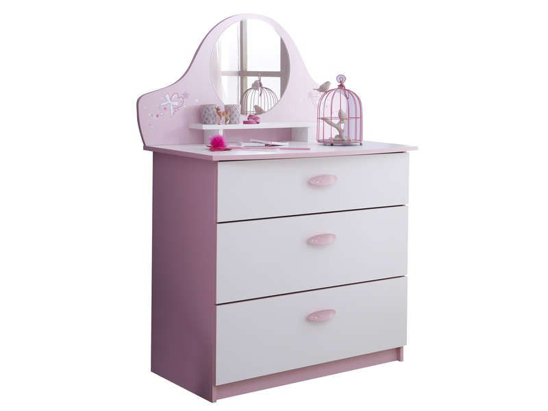 Commode 3 tiroirs papillon conforama pickture - Commode miroir pas cher ...