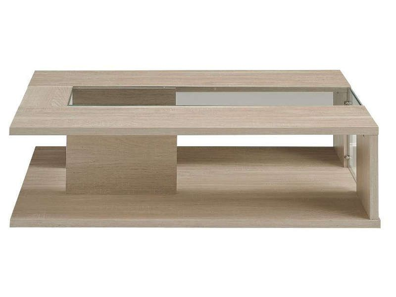 Table basse luna coloris ch ne clair conforama pickture - Table basse chene et verre ...