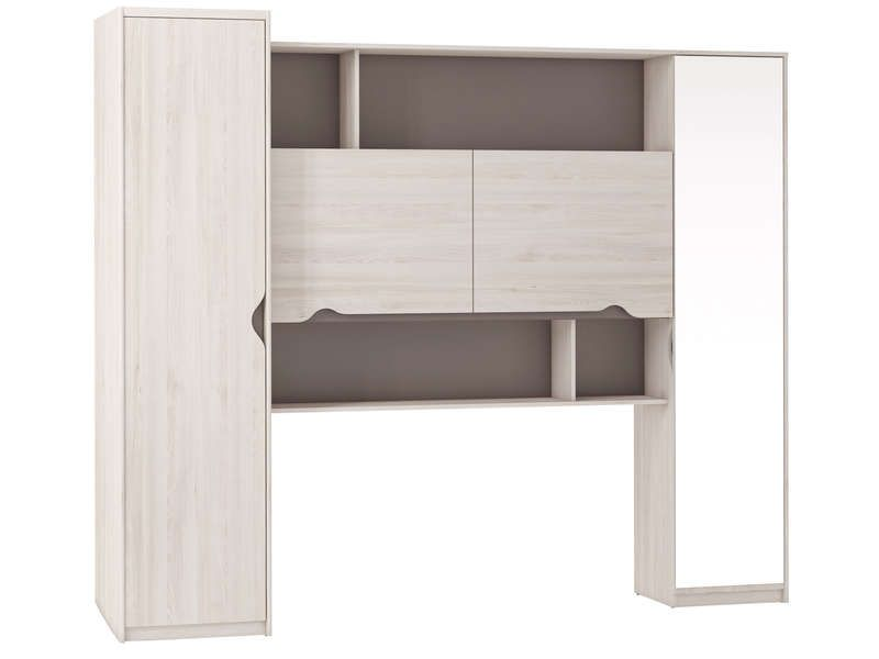 pont pour lit 140 cm vision coloris ch ne cypr s. Black Bedroom Furniture Sets. Home Design Ideas