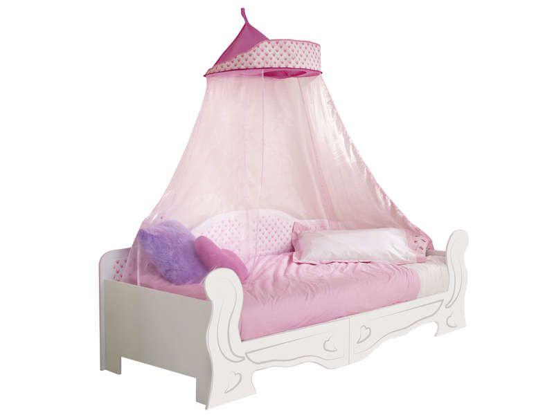lit baldaquin 90 x 190 cm blanc minnie mouse day conforama pickture. Black Bedroom Furniture Sets. Home Design Ideas