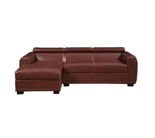 Canap en cuir de buffle et pu marron technos noname for Canape cuir de buffle