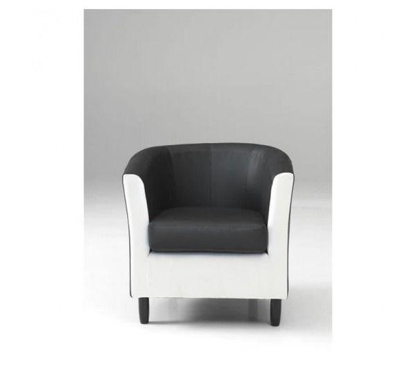 Orleans fauteuil noir et blanc noname pickture - Fauteuil cabriolet noir et blanc ...