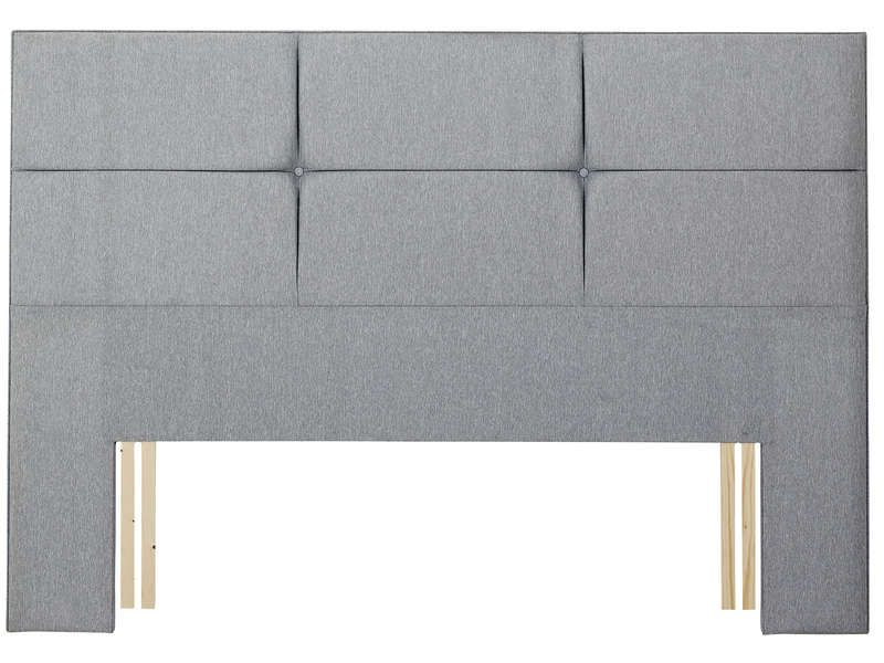 t te de lit 195 cm relyon contemporaine gris relyon. Black Bedroom Furniture Sets. Home Design Ideas