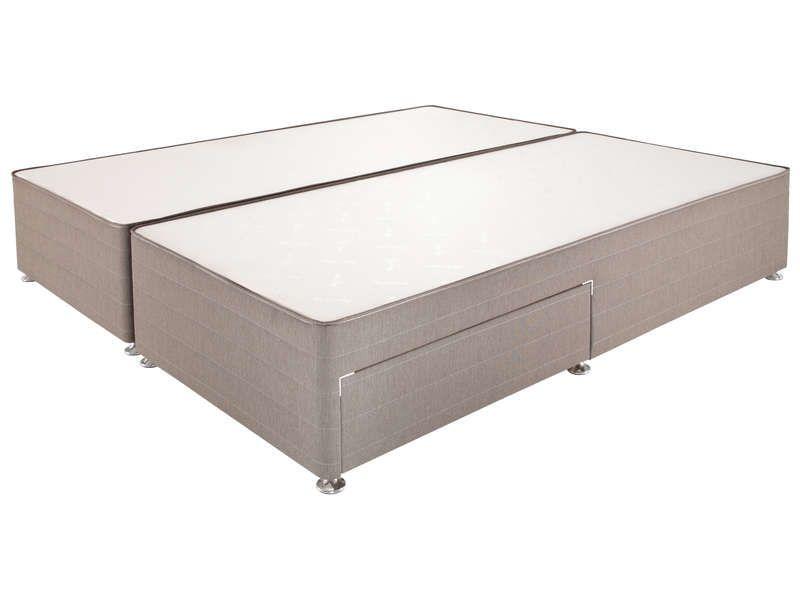 sommier tapissier 2 tiroirs 2x100x200 cm relyon relyon pickture. Black Bedroom Furniture Sets. Home Design Ideas