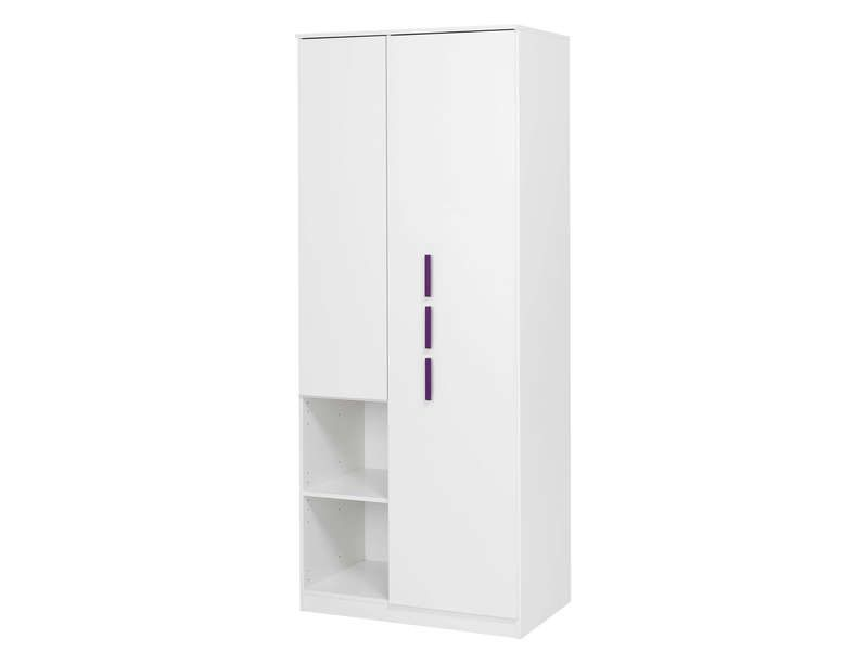 armoire 2 portes cool coloris blanc conforama pickture. Black Bedroom Furniture Sets. Home Design Ideas