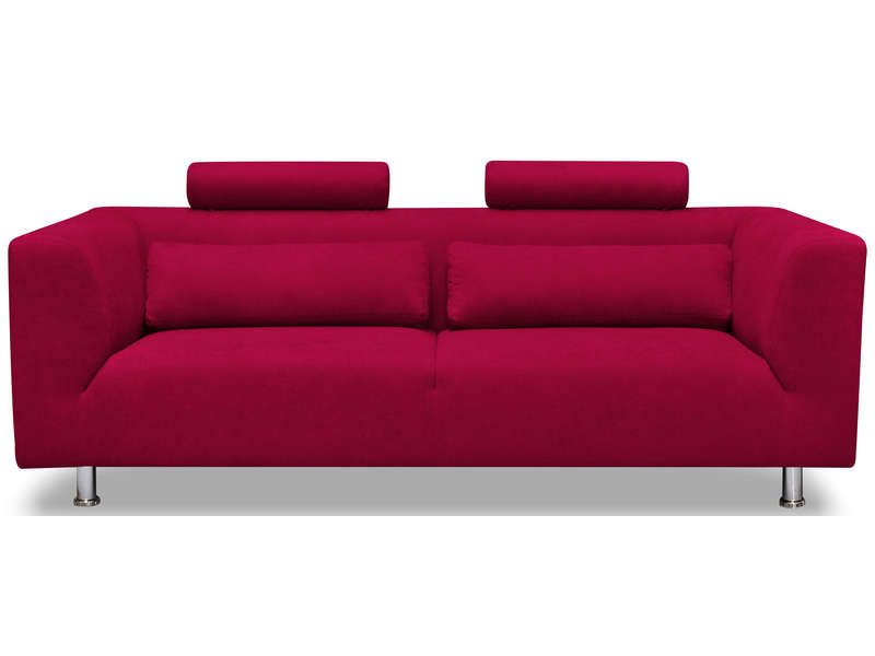 Canap fixe 3 places dalia coloris rouge conforama pickture - Conforama canape fixe 3 places ...