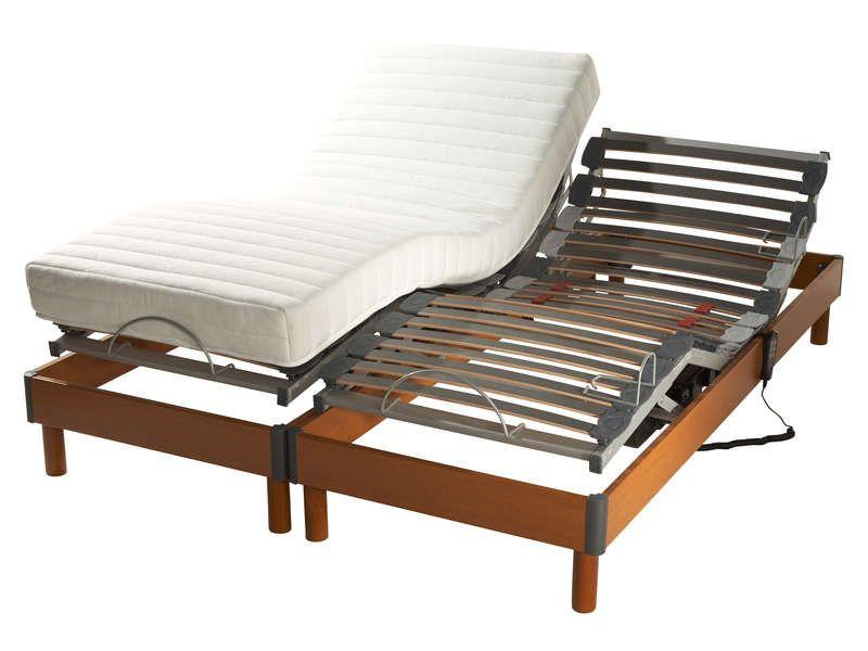 matelas sommier 2x80x200 cm meditation coloris conforama pickture. Black Bedroom Furniture Sets. Home Design Ideas