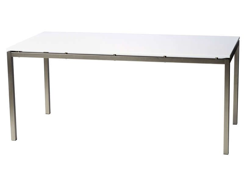 Table de cuisine florence coloris blanc conforama pickture for Table de jardin conforama