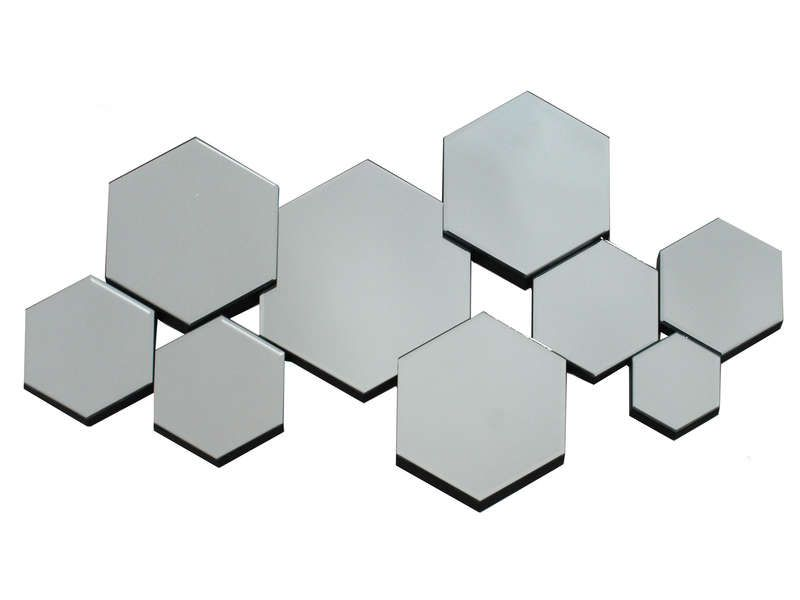 Miroir 90x0 cm hexamix coloris argent conforama pickture for Miroir 90 x 30