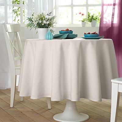 nappe ronde ou carr e carreaux colombine blanche porte pickture. Black Bedroom Furniture Sets. Home Design Ideas