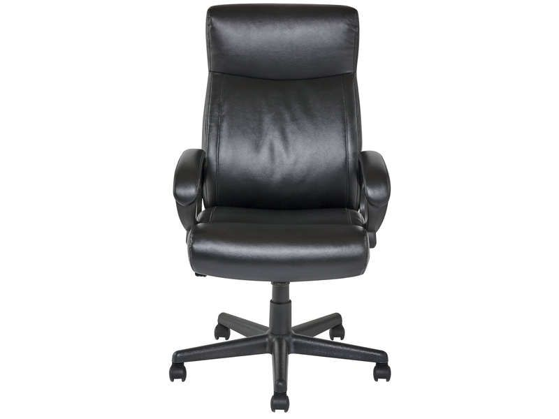fauteuil de bureau nolan coloris noir conforama pickture. Black Bedroom Furniture Sets. Home Design Ideas