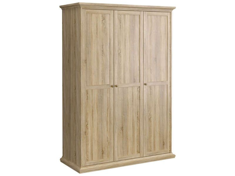 armoire 3 portes paris coloris ch ne conforama pickture. Black Bedroom Furniture Sets. Home Design Ideas