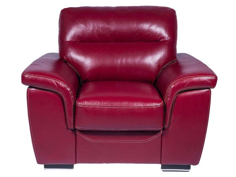 Fauteuil giovanni coloris rouge conforama pickture for Canape 89 euros conforama