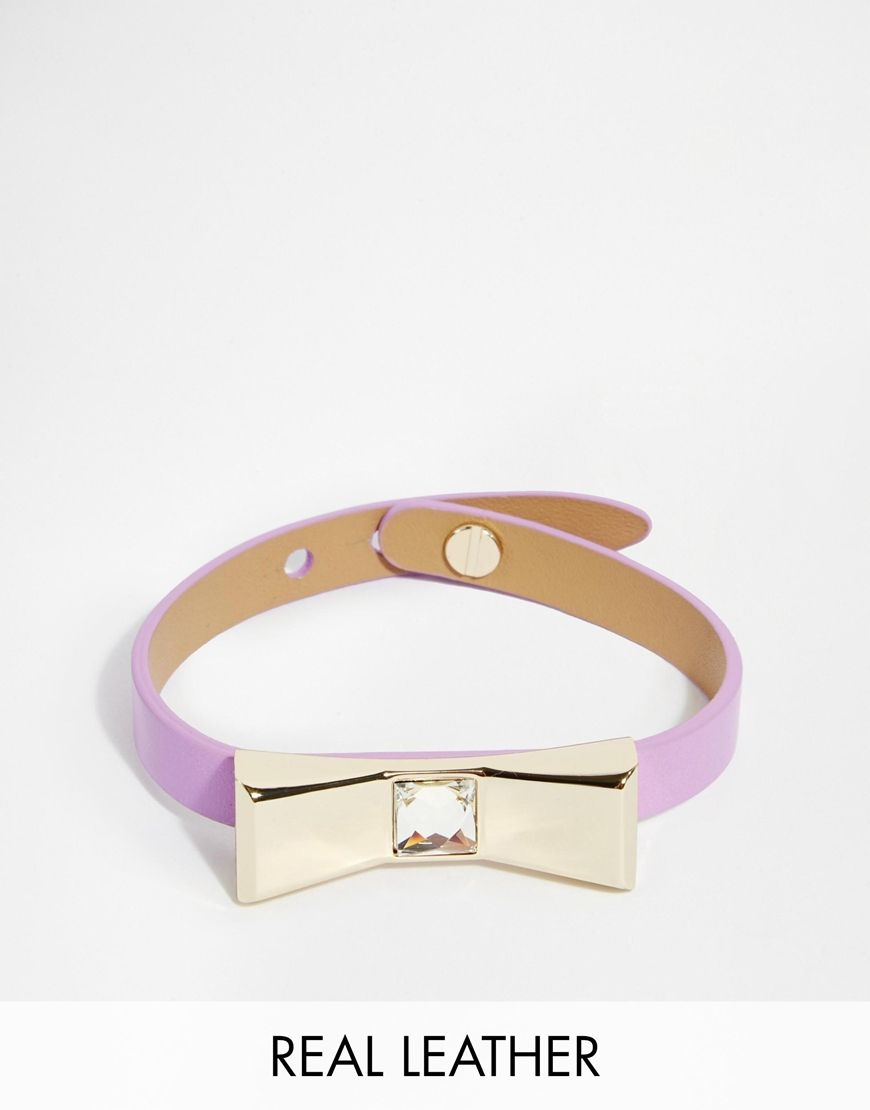 ted baker bracelet avec n ud en cuir ted baker pickture. Black Bedroom Furniture Sets. Home Design Ideas