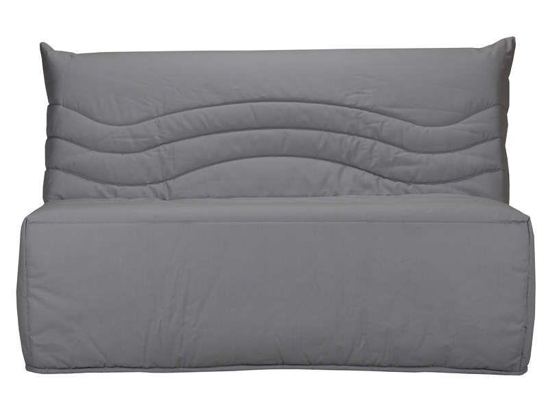 banquette lit bz babette coloris gris conforama pickture. Black Bedroom Furniture Sets. Home Design Ideas