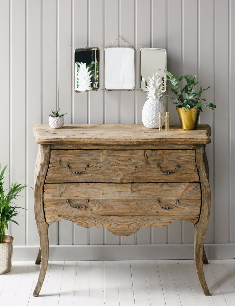 Commode en bois recycl rose grey pickture - Commode bois recycle ...