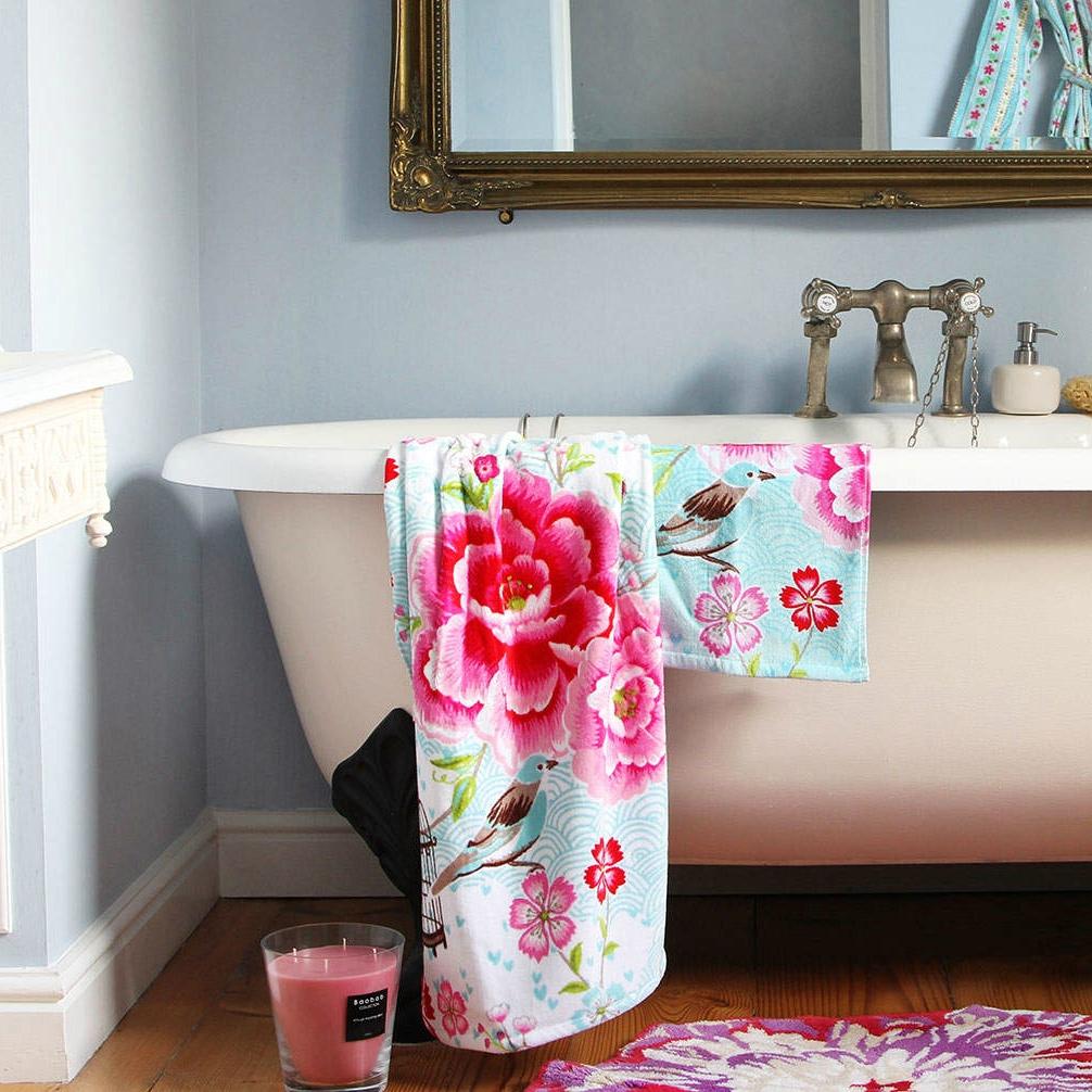 Birds in paradise towel blue bath pip studio pickture - Acheter vaisselle pip studio ...