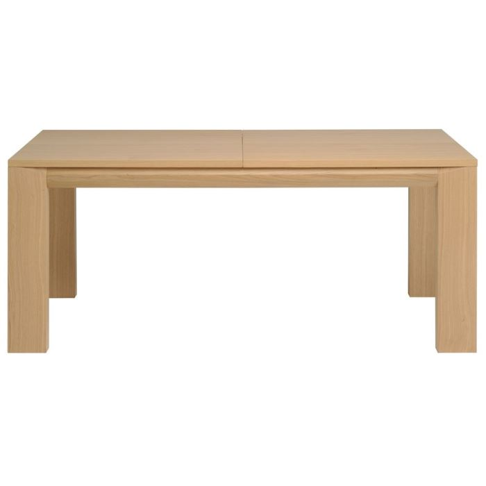 Academy table l180 225 270 cm finition chene brut aucune for Table en chene brut