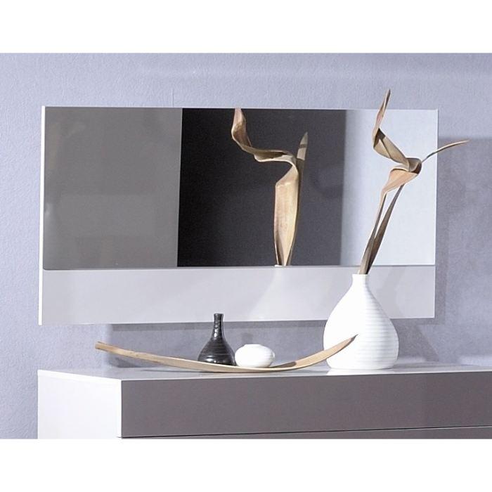 Miroir wave mural laqu gris perle aucune pickture for Miroir mural gris