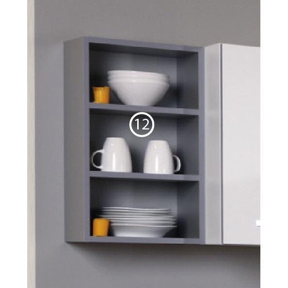 Harmony 12 bloc tagere l 34 cm gris aucune pickture - Bloc etagere modulable ...
