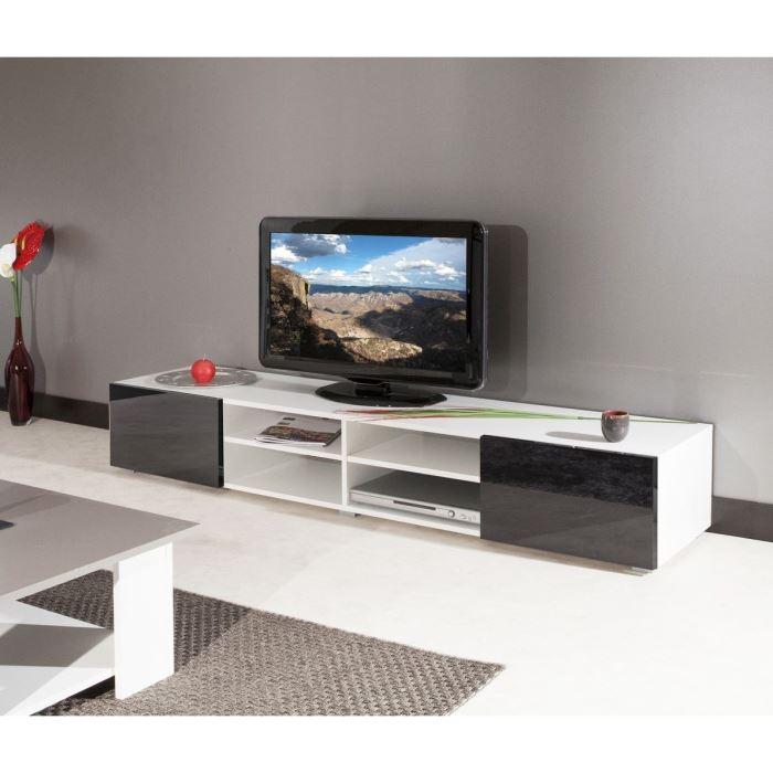 Mango meuble tv 185cm blanc fa ades laqu es aucune - Meuble tv geek ...